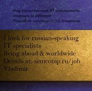 Ищем русскоязычного компьютерного специалиста (фрилансера)
